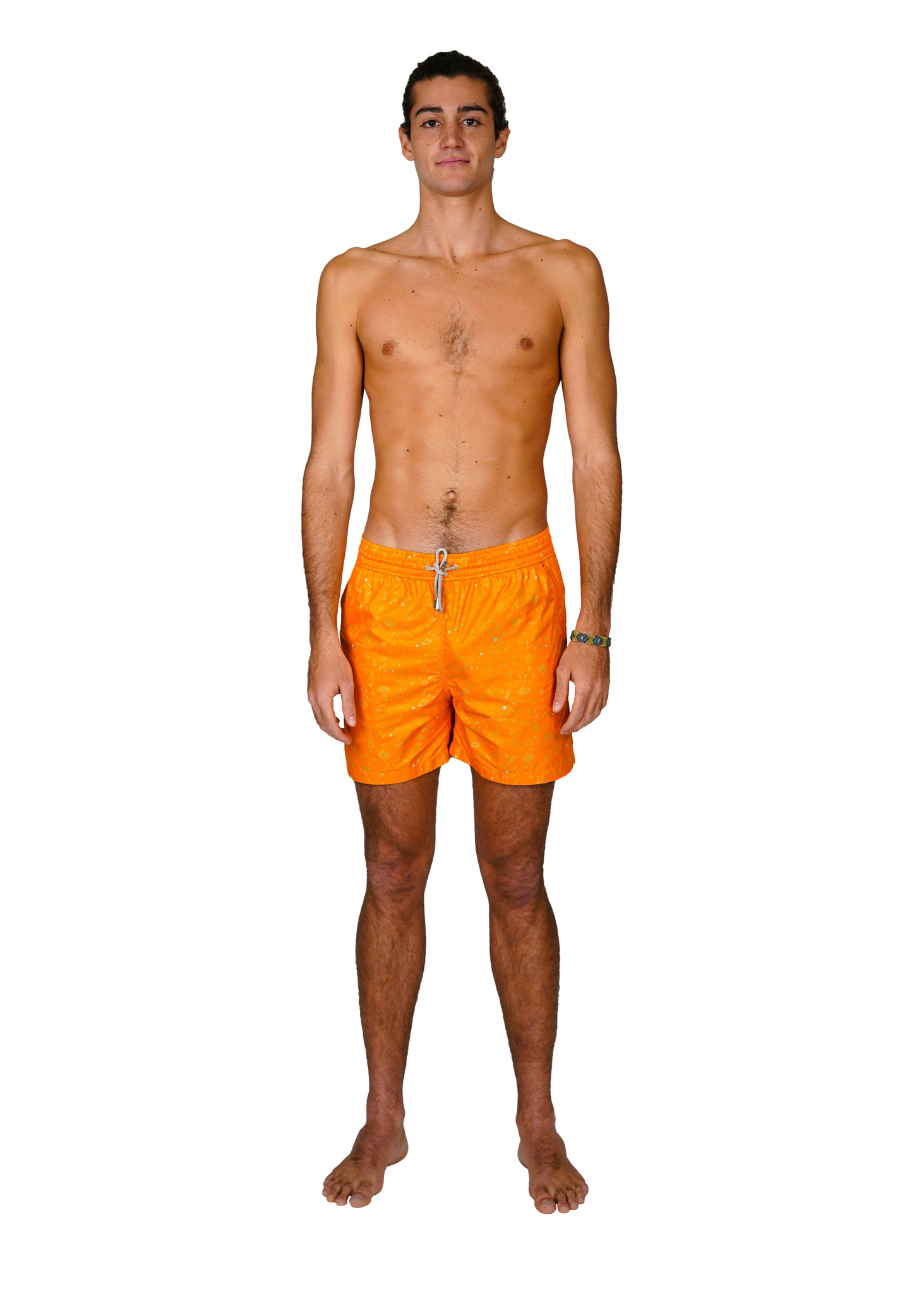 Mens' Swim Shorts Oceano Orange-1