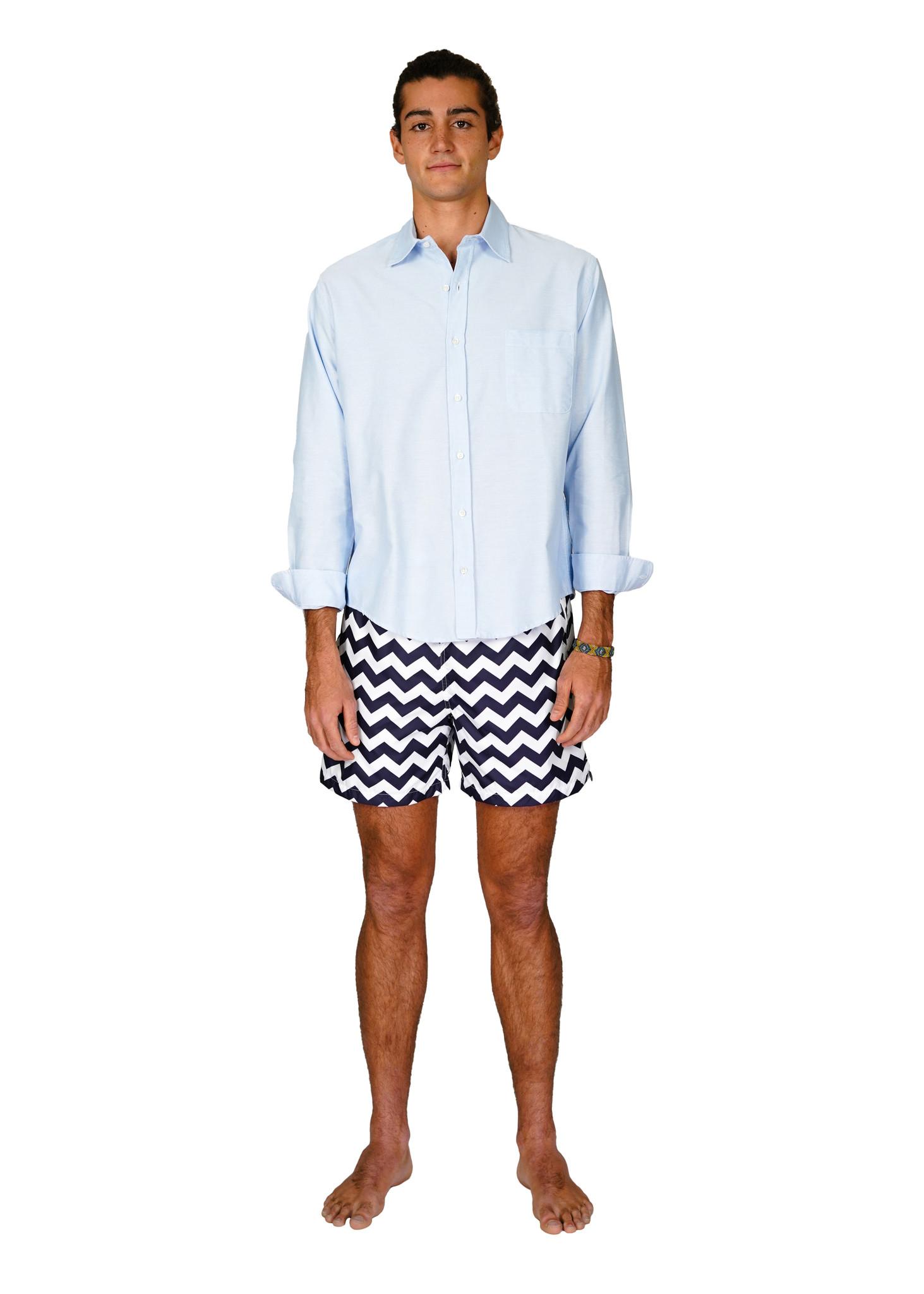 Men's beach shirt Lightblue-1