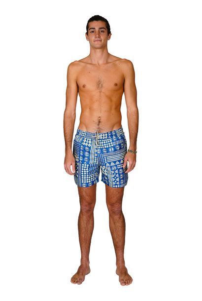 Men's Swim Shorts Blue Pattern