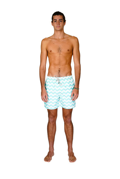 Men's Swim Shorts Wave Mint