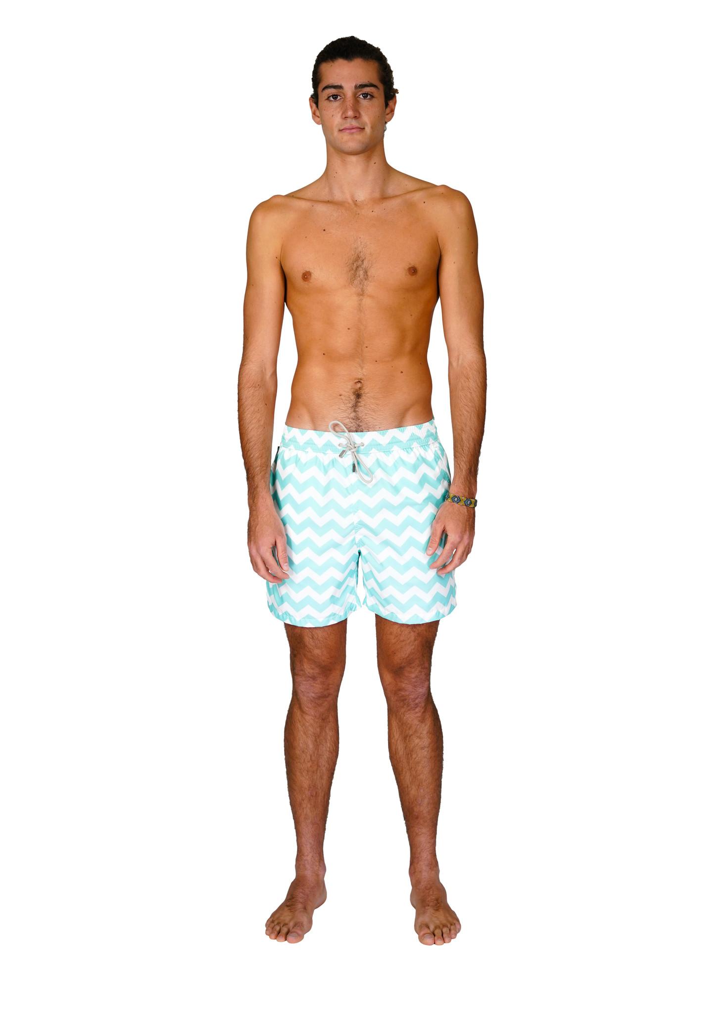 Men's Swim Shorts Wave Mint-1