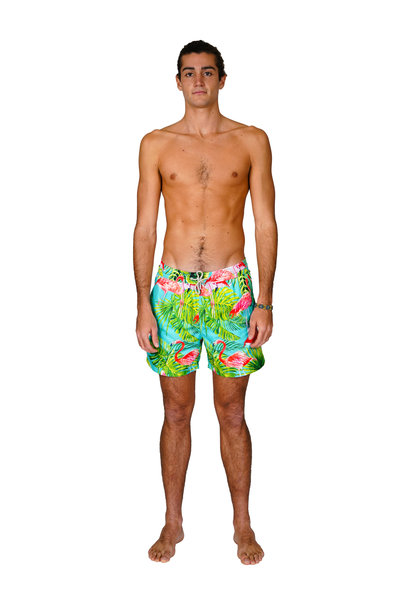 Men's Swim Shorts Flamingo Light Blue