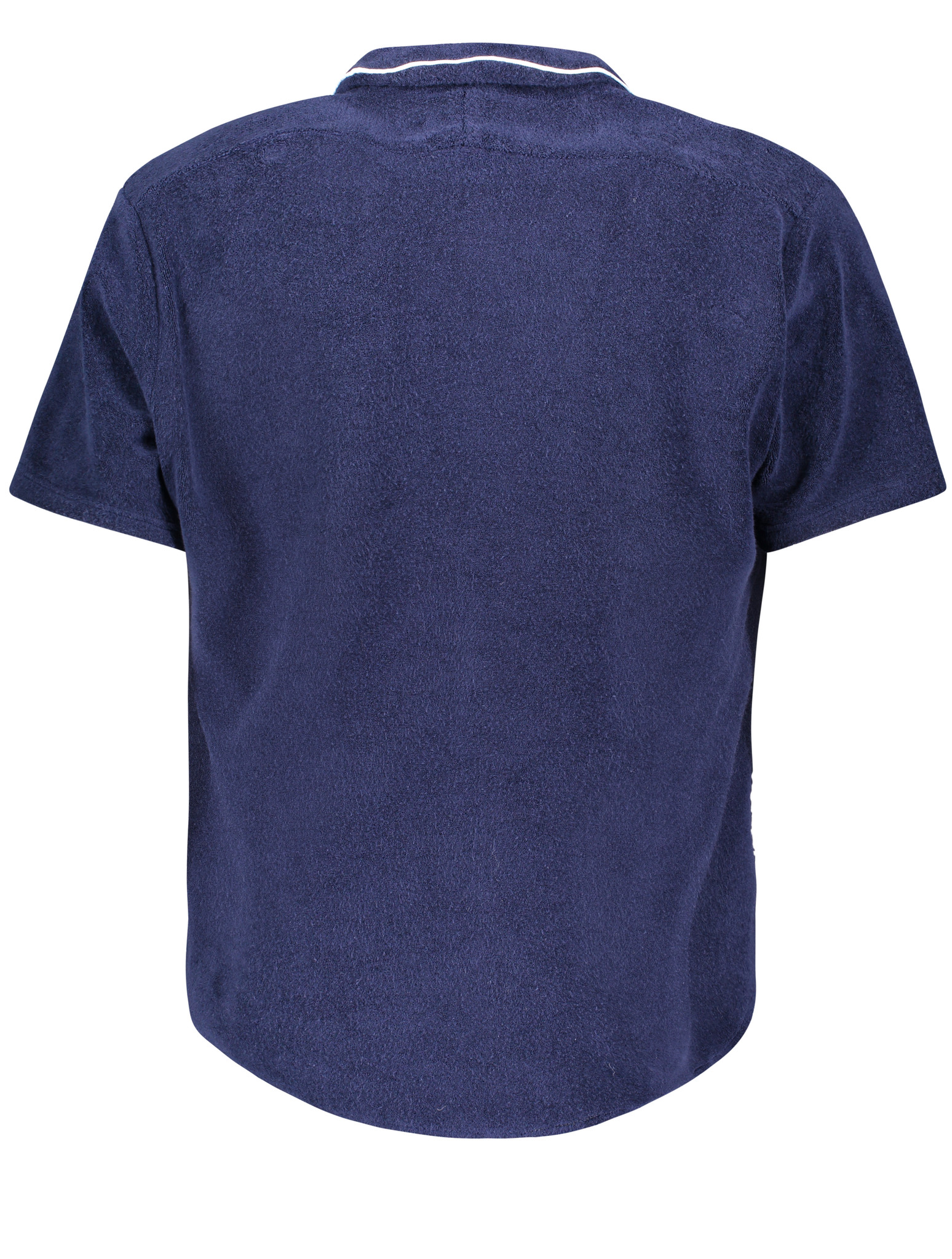 Men's short sleeve Shirt Terry Towel Fabric Blue-3