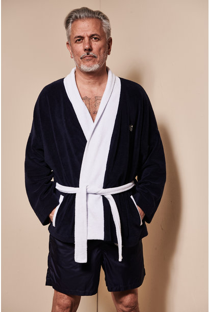 Men's Bathrobe Blue