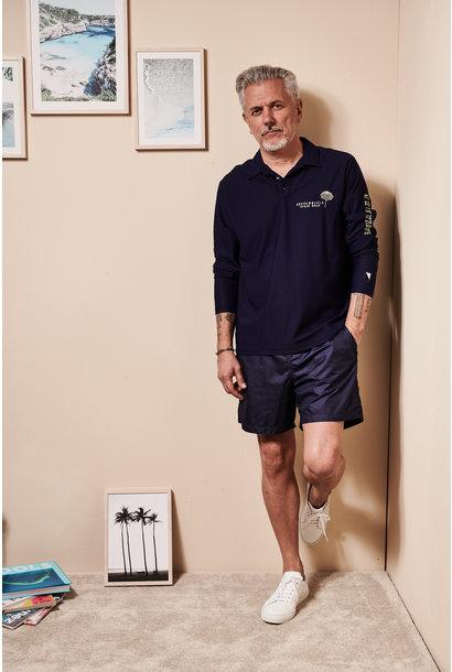 UV Langarm Kragen-Shirt Herren Weiss  (ZÜRICH EDITION)
