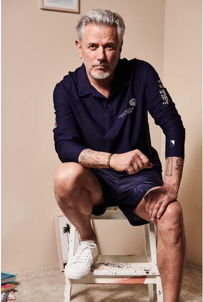 UV Langarm Kragen-Shirt Herren Blau  (ZÜRICH EDITION)
