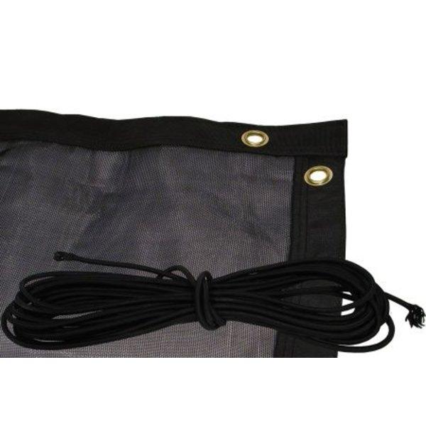 Aanhangernet Fijnmazig Zware Kwaliteit - Zwart 2.50x4,00mtr - inclusief elastiek