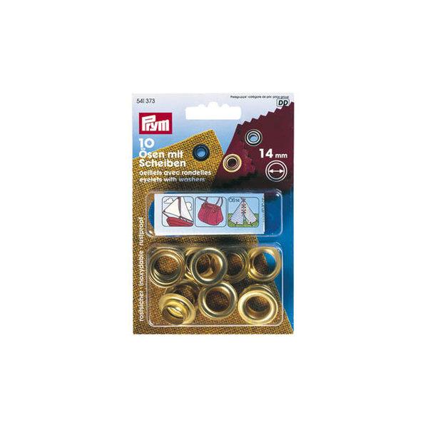 Zeilogen / zeilkousjes - doe-het-zelf set - 14mm