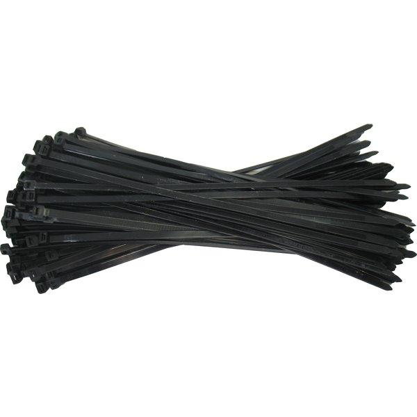 Tie Rips / Kabelbinders 7,7 x 368mm ZWART per 100 stuks