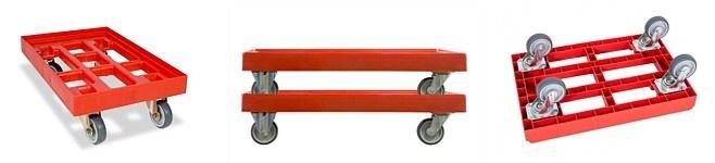 Wózek transportowy do pojemników euro