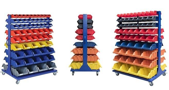 Wózek warsztatowy z pojemnikami