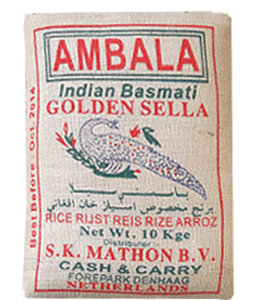 AMBALA GOLDEN SELLA Basmati Rice 5 kg (brown rice)
