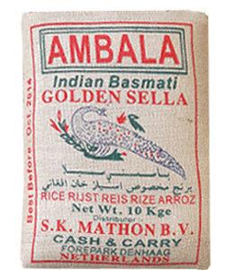 AMBALA GOLDEN SELLA BASMATI RICE 5kg.Brown