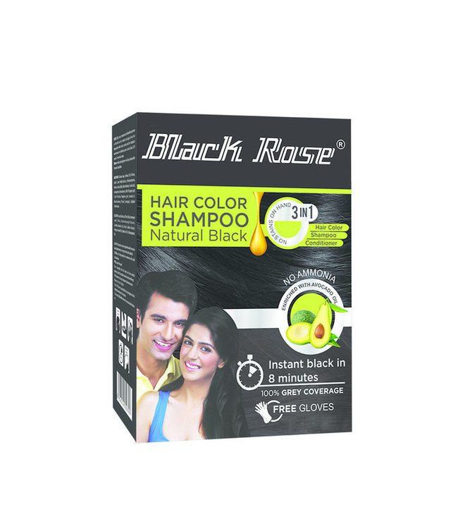 BLACK ROSE BLACK ROSE Henna Hair Colour Shampoo 12 x 15gm