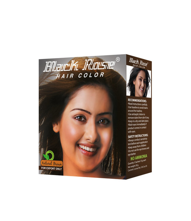 BLACK ROSE BLACK ROSE Herbal Brown Henna 10 x 50 gm (10 pcs)