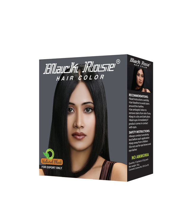 BLACK ROSE BLACK ROSE Natural Black Henna Powder 10x50gm (grey)