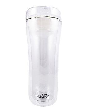 Double Wall Reusable Glass Travel Mug