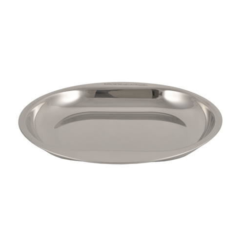 Plate with Double Grip made of Food Grade Stainless Steel