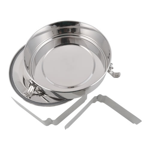 Round Stainless Steel Airtight Take-Out Container with Dividers