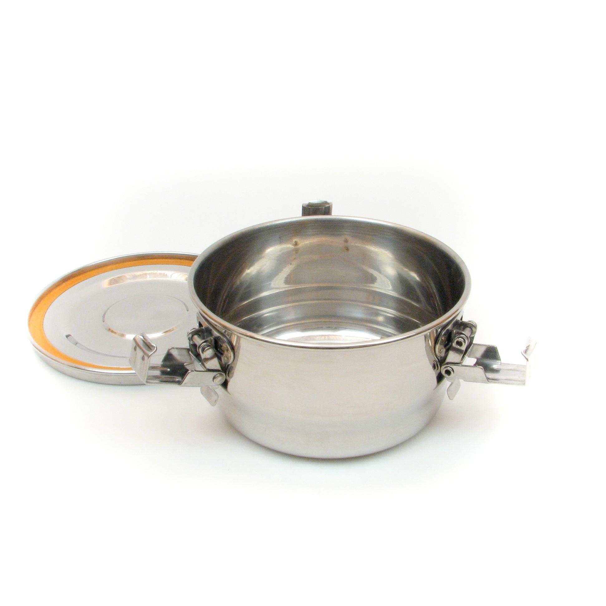 Contenant étanche à l'air et à l'eau en acier inoxydable pour le stockage des aliments - 375ml
