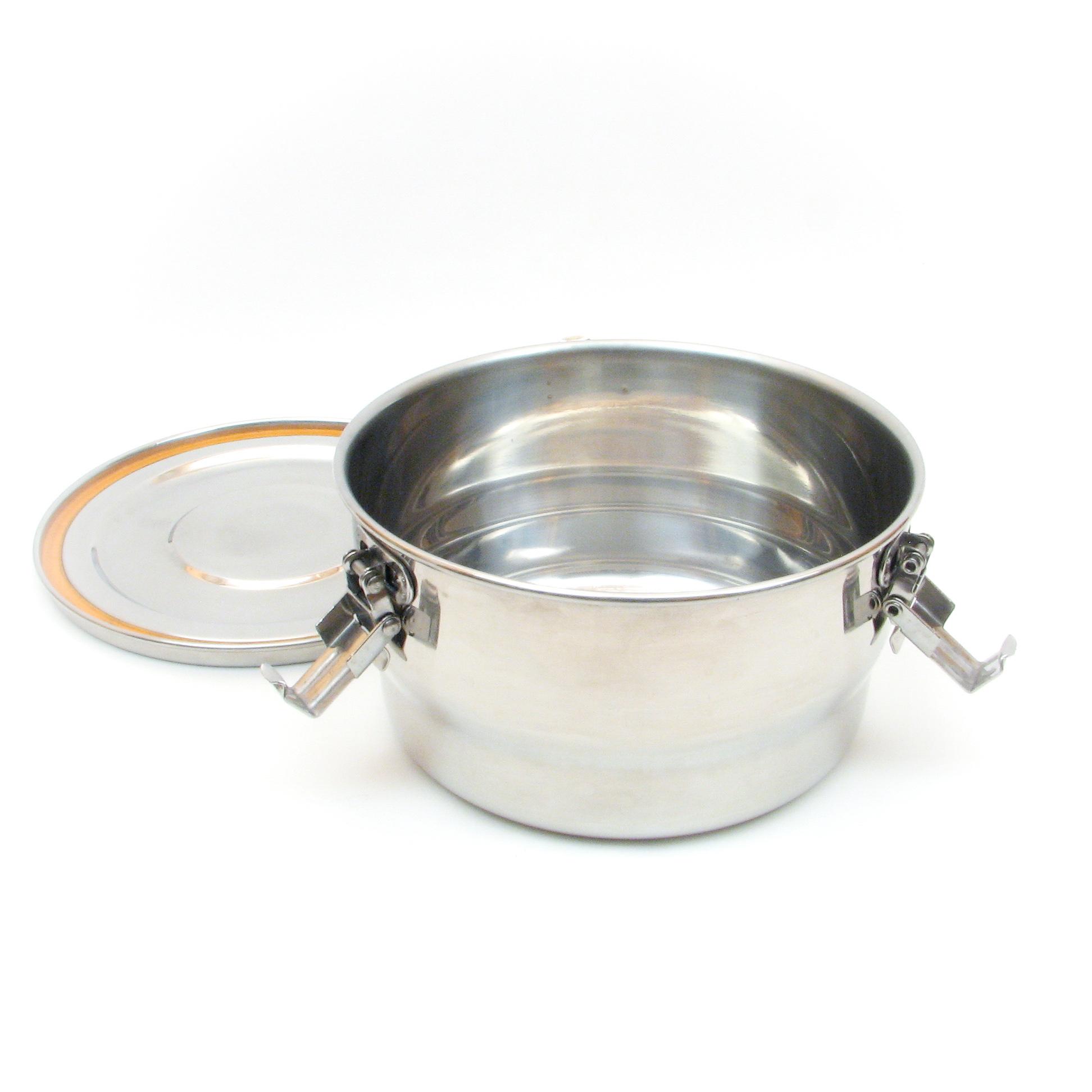Contenant étanche à l'air et à l'eau en acier inoxydable pour le stockage des aliments - 1125ml
