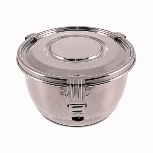 Contenant étanche à l'air et à l'eau en acier inoxydable pour le stockage des aliments - 1,5 L