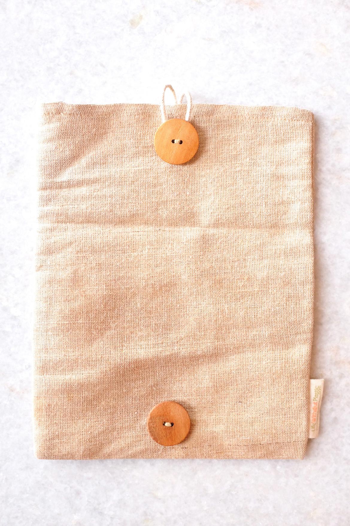 Adjustable Reusable Juco Sandwich Bag