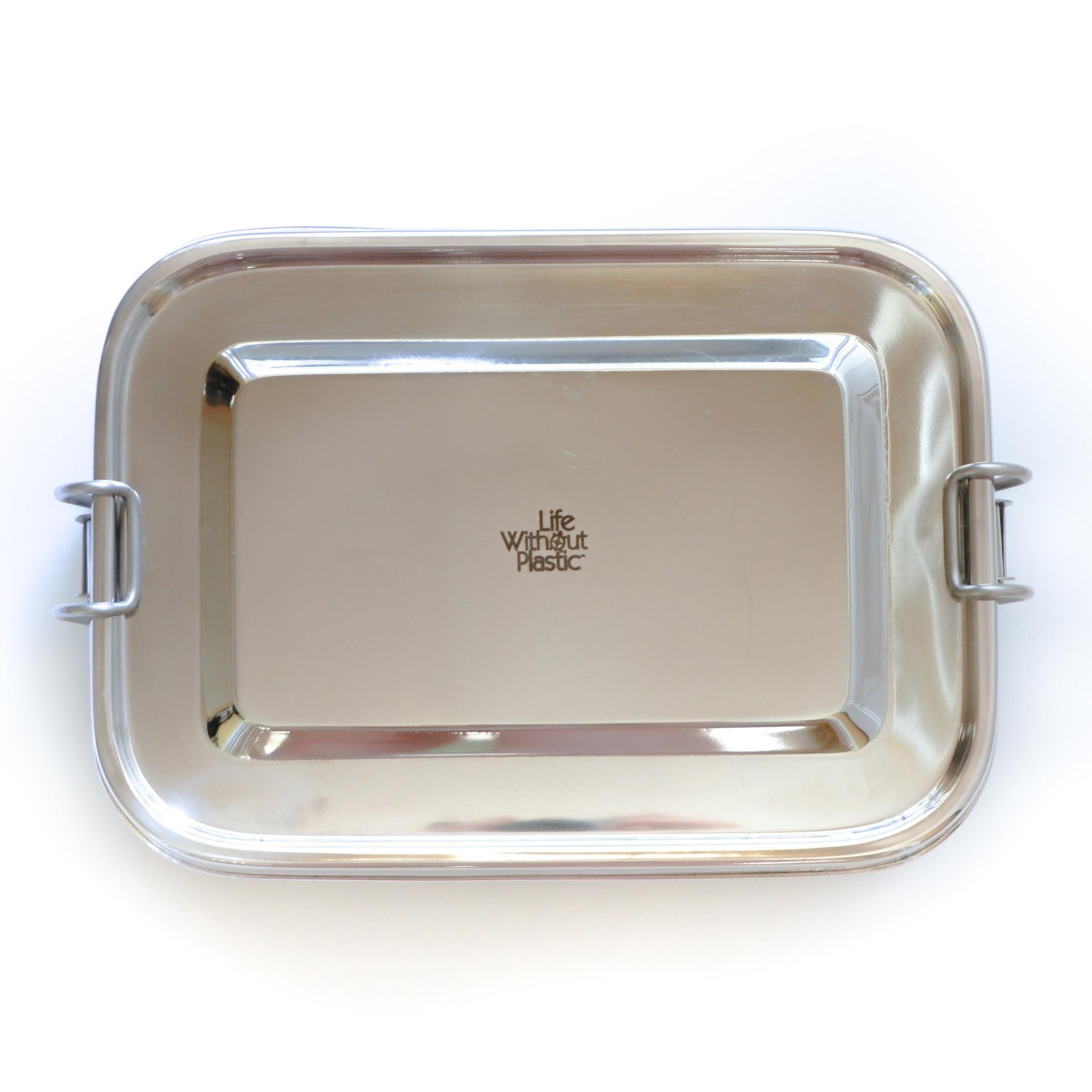 Récipient d'entreposage alimentaire hermétique rectangulaire en acier inoxydable - 1,6 L