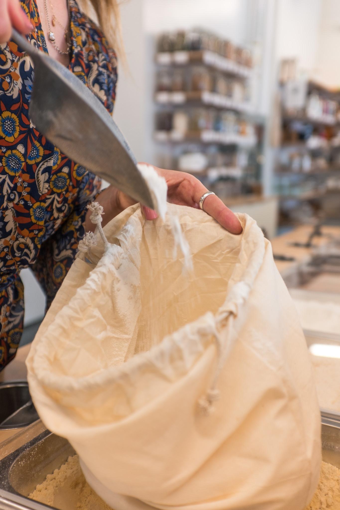 Organic Cotton Flat Bottom Bulk Bag - Large - case of 12