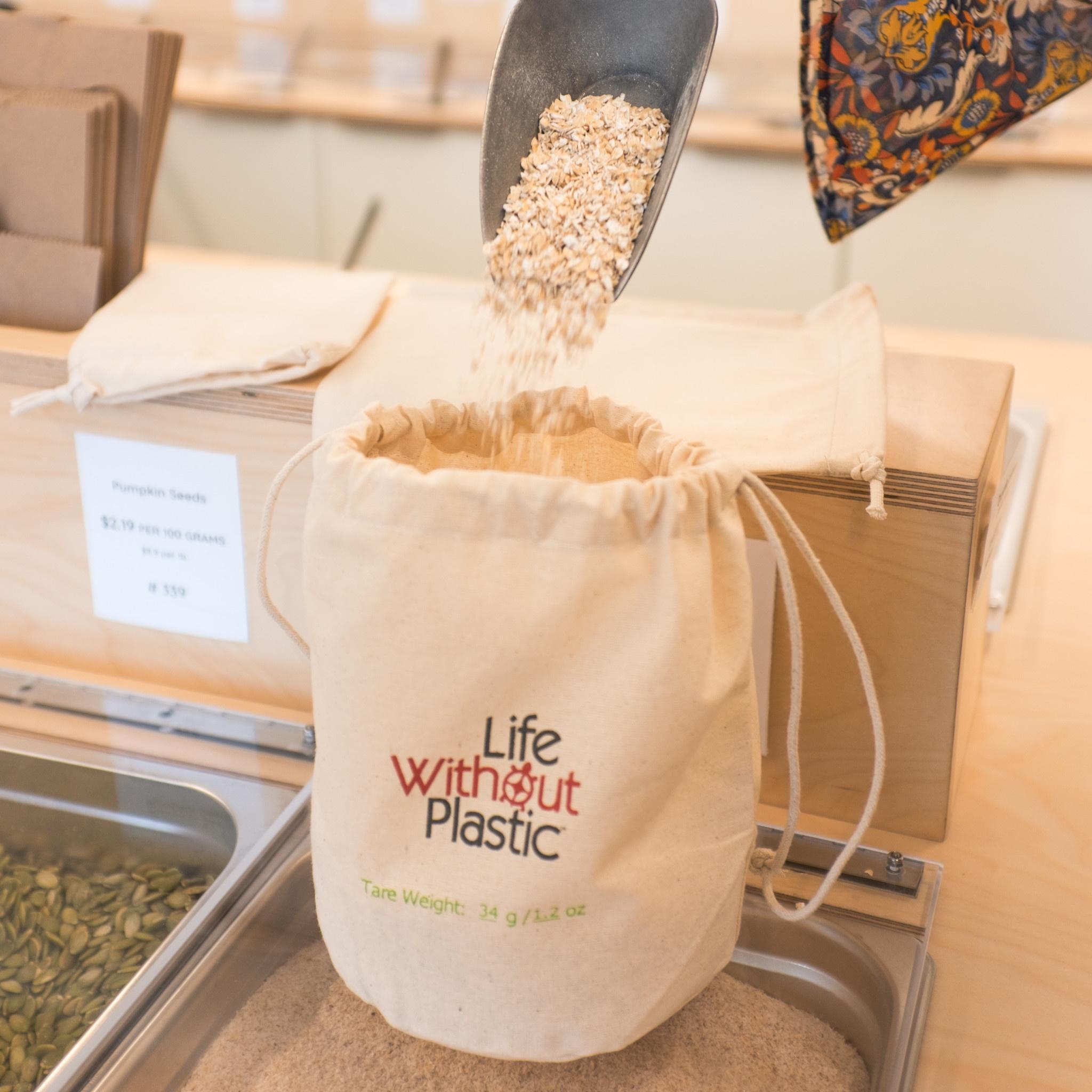 Organic Cotton Flat-Bottom Bulk Bag - Medium - Case of 12