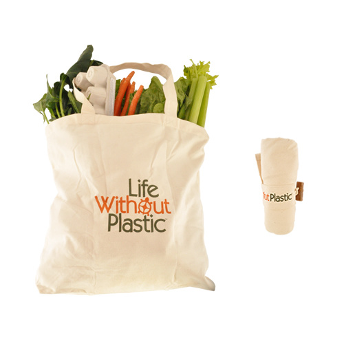 Compact Shopping Bag Made of Certified Organic Cotton