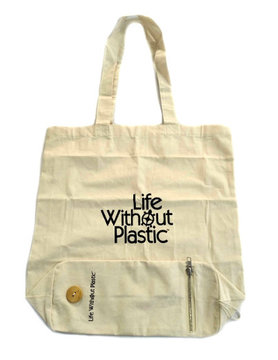 Organic Cotton Flat-Bottom Compact Shopping Bag - Case of 12