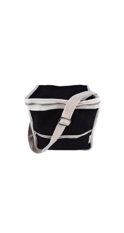Clean Square Lunch Bag -  Black Medium