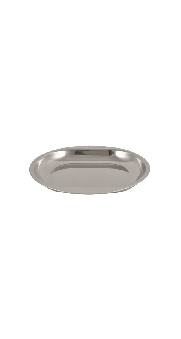 Plate with Double Grip made of Food Grade Stainless Steel - Case of 12