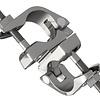 Doppelschelle beweglich aus Aluminium