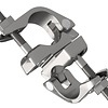 Double clamp movable made of aluminum