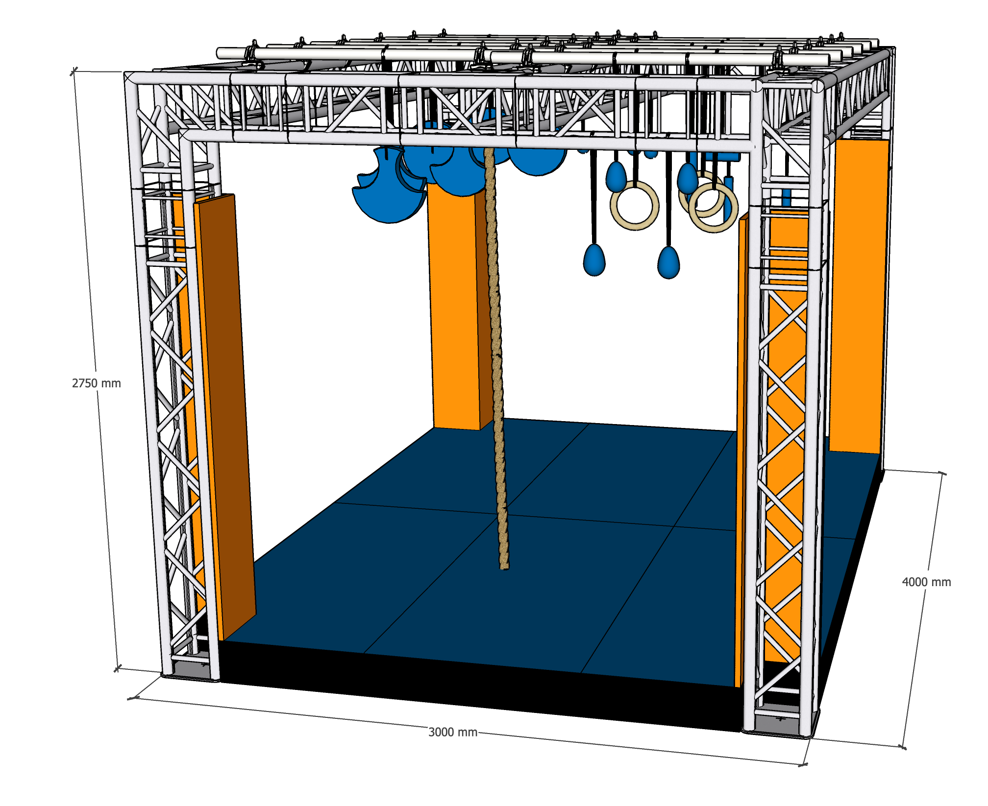 NINJA FRAME SMALL incl. Obstacles
