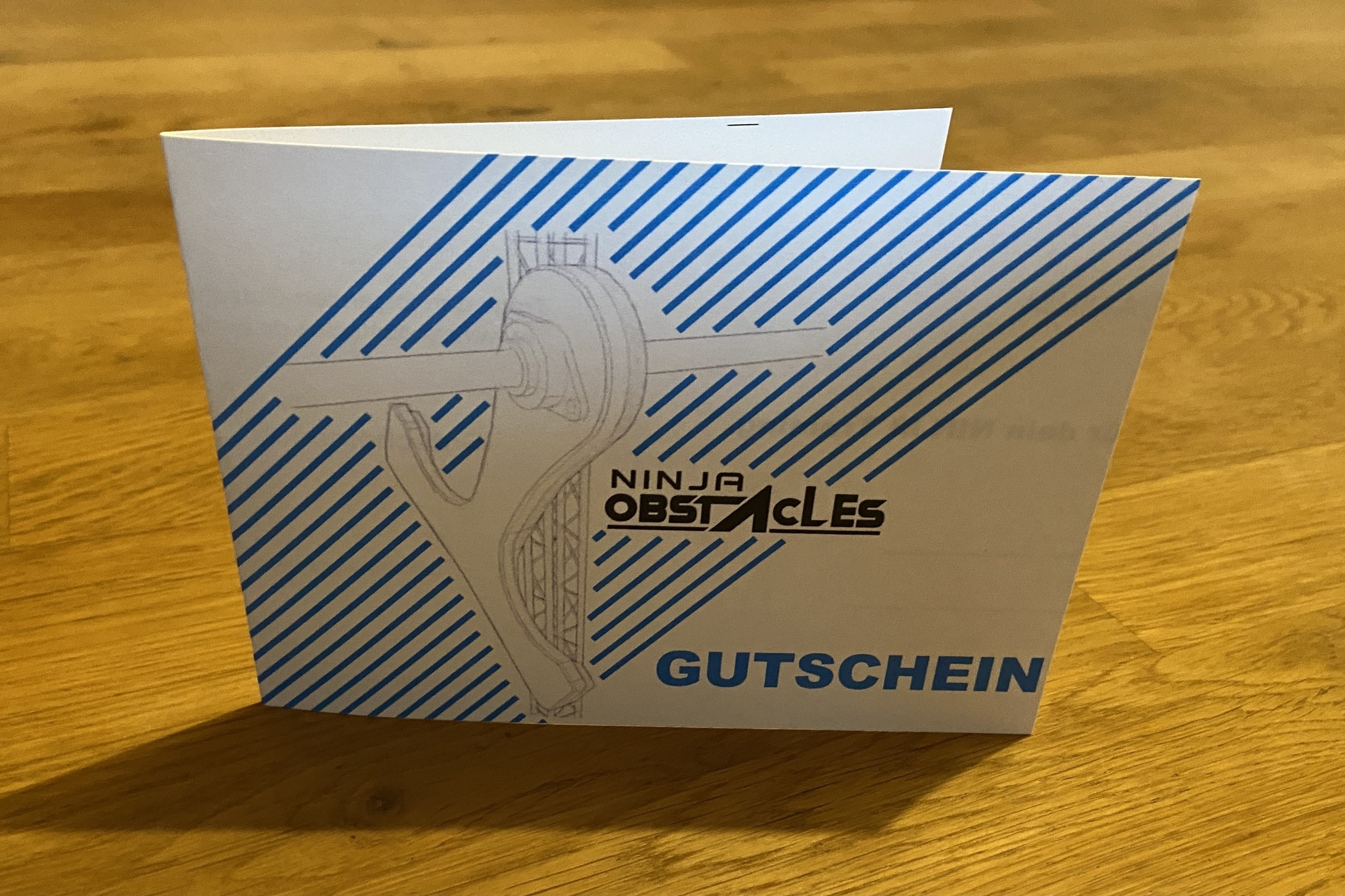 gift voucher for the NINJA OBSTACLES Onlineshop