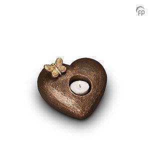 UGK 001 AT Keramische urn brons Tederheid (waxine)