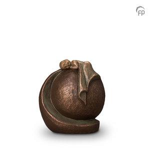 UGK 005 A Keramische urn brons In vredige rust