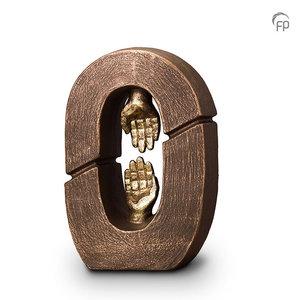 UGK 017 A Keramische urn brons Gebroken schakel