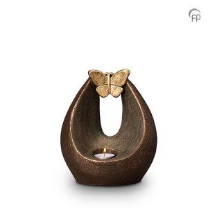 UGK 037 AT Keramische urn brons Verlichte vlinder