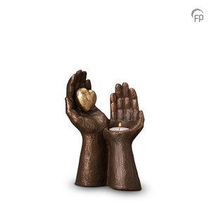 UGK 052 AT Keramische urn brons Gedragen liefde (waxine)