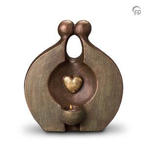 UGK 060 DT Keramische Duo urn brons Herinnering (waxine)