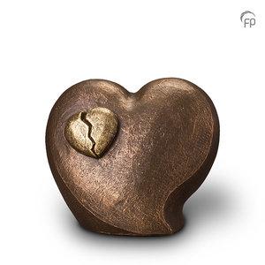 UGK 073 B Keramische urn brons In de liefde ligt pijn