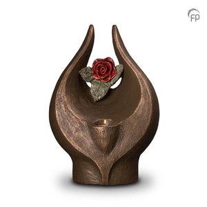 UGK 077 BT Keramische urn brons Geen rode roos zonder doorn