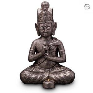 UGKS 302 BT Keramische urn zilver Boeddha Dai Nichi (waxine)