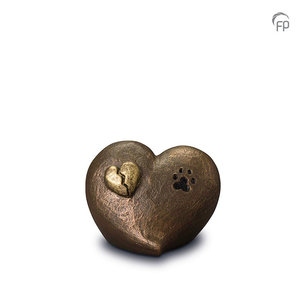 UGK 203 Keramische dierenurn brons