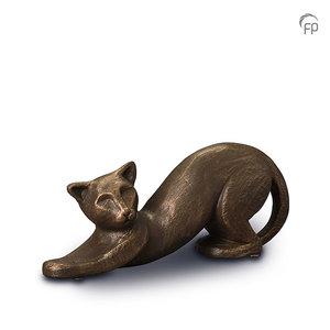 UGK 207 Keramische dierenurn brons