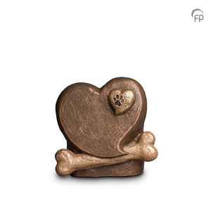 UGK 212 Keramische dierenurn brons
